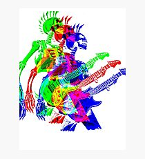 Skeleton Guitar Player 4 Photographic Print