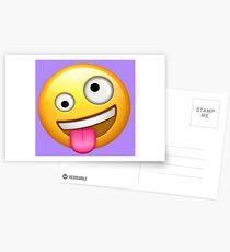 Crazy Face Emoji Postcards
