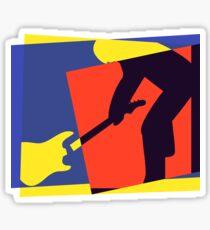 Rock Guitar Smash Sticker