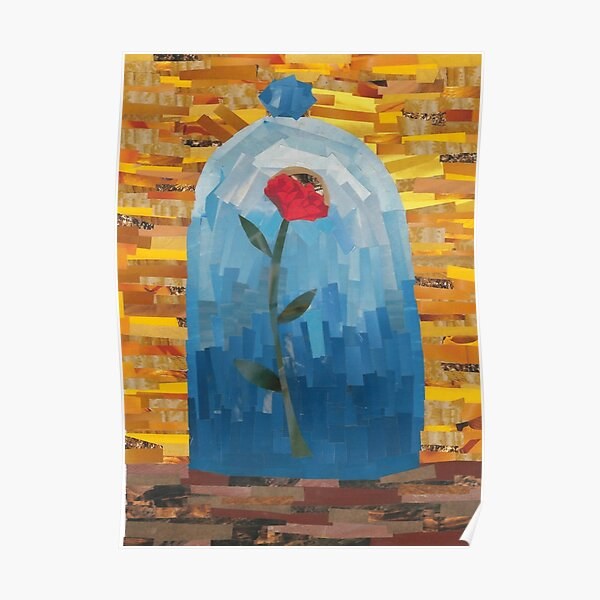 Enchanted Rose Collage Poster