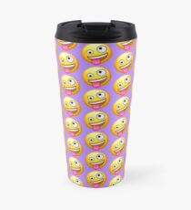 Crazy Face Emoji Travel Mug