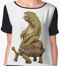 Funny Turtle,Fast,Animal,Lucky Turtle,Ninja,Speed Chiffon Top