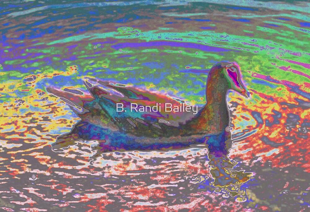 Moorhen in pastels by ♥⊱ B. Randi Bailey