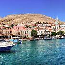 Halki Harbour Front by Tom Gomez