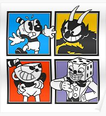 Cuphead colors mosaic Poster