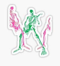 Skeleton Guitar Player 3 Sticker