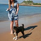 2 Ellie with her Australian Shepherd by Cathie Brooker
