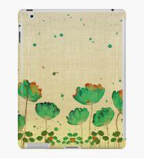 """Vinilo o funda para iPad """"Green flowers & Dots"""""""