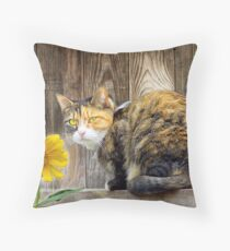 Pretty Tortie Throw Pillow