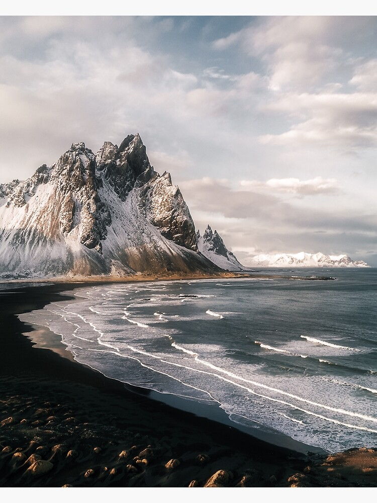 Stokksnes Icelandic Mountain Beach Sunset - Landscape Photography by regnumsaturni