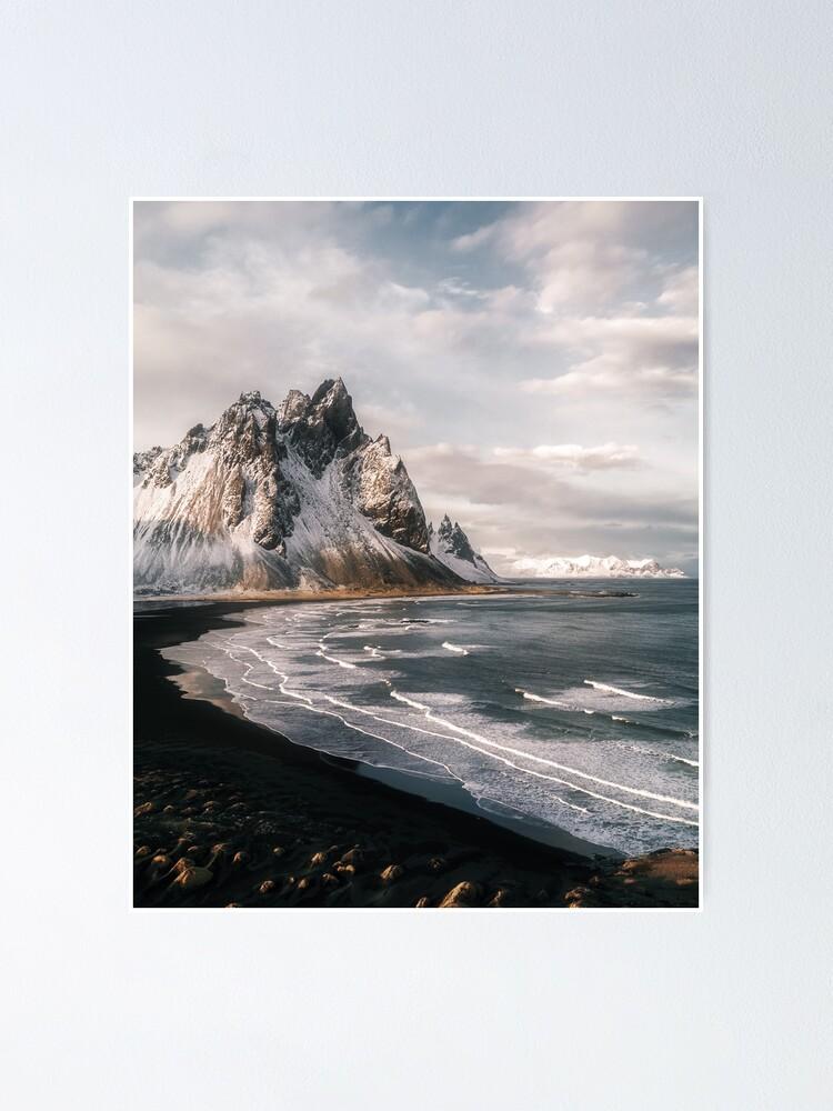 Alternate view of Stokksnes Icelandic Mountain Beach Sunset - Landscape Photography Poster