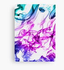 SMOKY OIL IN WATER  Canvas Print