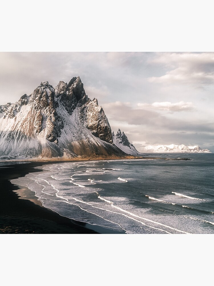 Stokksnes Icelandic Mountain Beach Sunset - Landscape Photography by regnumsaturni
