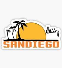 STAY CLASSY SAN DIEGO Funny Geek Nerd Sticker