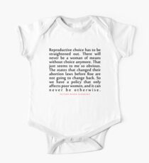 "Reproductive choice has...""Ruth Bader Ginsburg"" Inspirational Quote Kids Clothes"