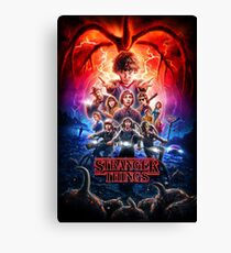 STRANGER THINGS POSTER 2 Canvas Print