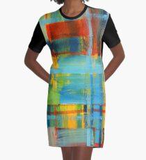 Morning Plaid Graphic T-Shirt Dress