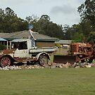 Wondai,Queensland,Australia 2016-Old Ute,Tractor Grader by muz2142