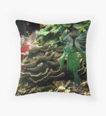 Fungi fairies Throw Pillow