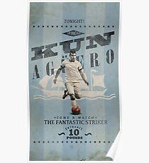 Kun Aguero - Vintage Cartel Poster