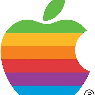 Rainbow Vintage Apple Logo by Omar365