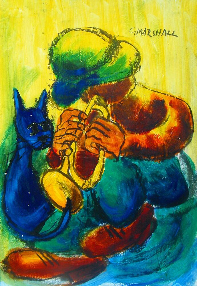 musician 3: brass player by Gary Marshall