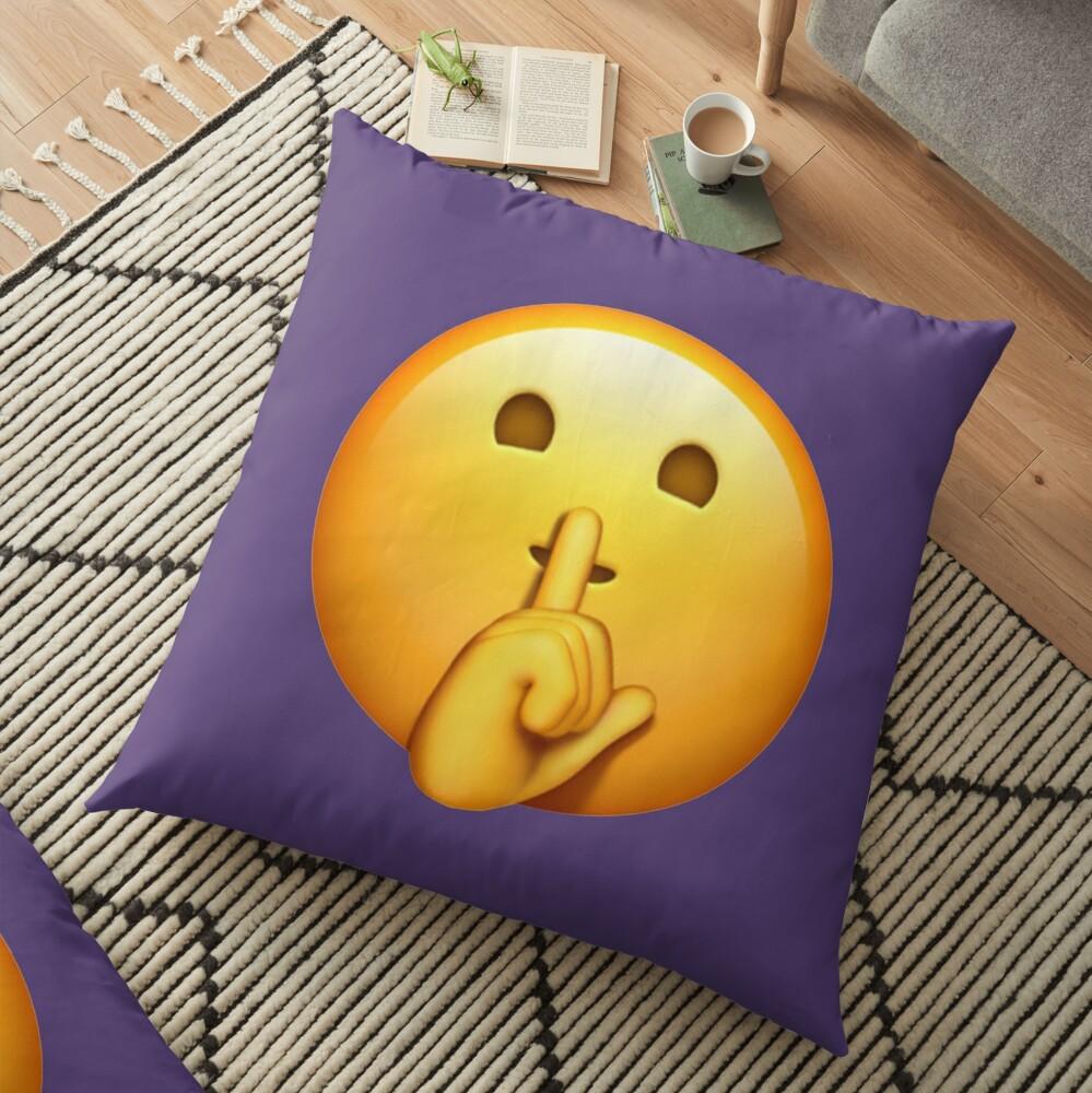 Shhh Emoji Cojines de suelo