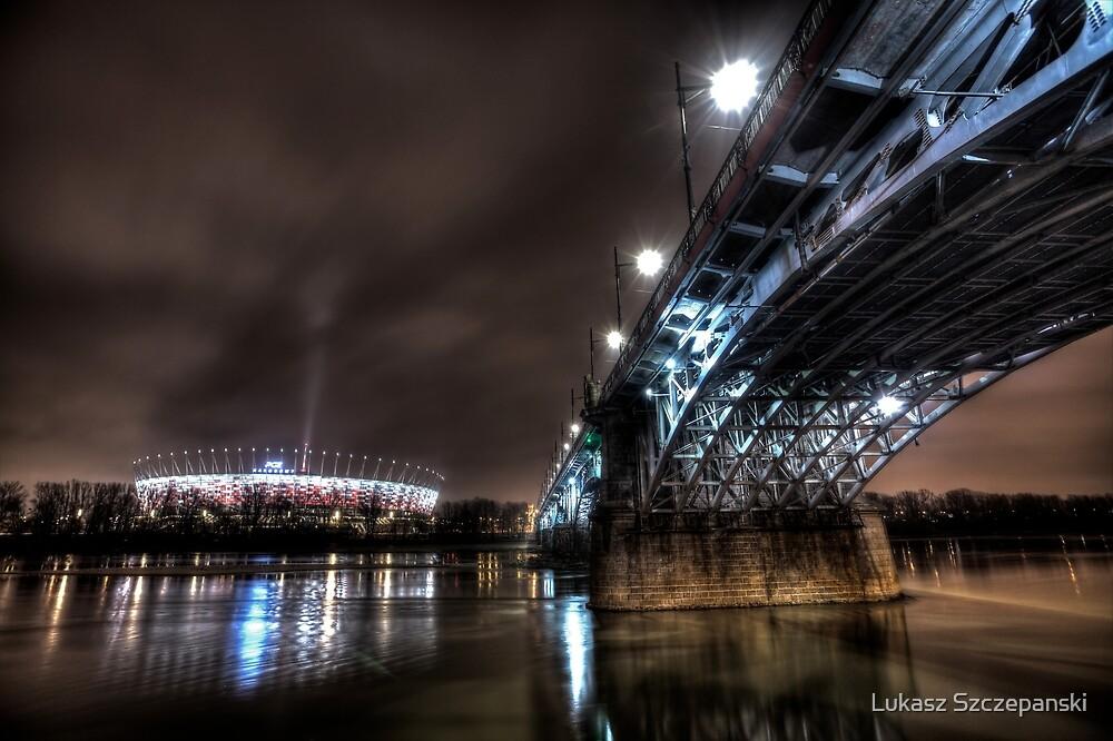 National Stadion, Poniatowski Bridge, Warsaw, Poland by Lukasz Szczepanski