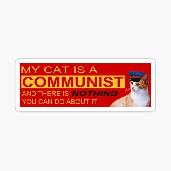 Mi gato es comunista Pegatina