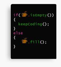 Coffee code - programming Canvas Print