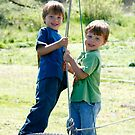 Brothers and a Tyre swing by Tracey McKenzie