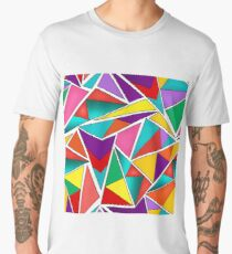 A colorful, abstract pattern polygons .  Men's Premium T-Shirt