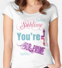 Sublime/Sub-Prime Women's Fitted Scoop T-Shirt