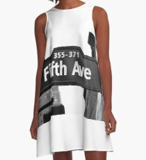 Fifth Avenue, New York City A-Line Dress