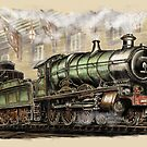 "Westward Ho! or ""Saint Class Locomotive Departing"" by Rasendyll"