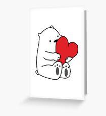 Ice Bear Love Greeting Card