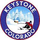 Skiing Keystone Colorado Mountains Ski Snowboarding by MyHandmadeSigns