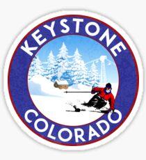 Skiing Keystone Colorado Mountains Ski Snowboarding Sticker