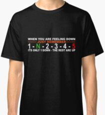 Motorcycle gear change, 5 speed, 1 down, 4 up (for dark colours) Classic T-Shirt