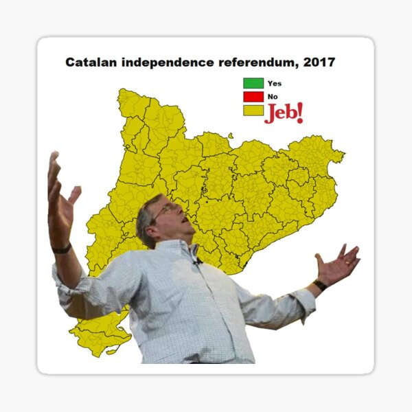 JEB Wins the Catalan Referendum  Sticker