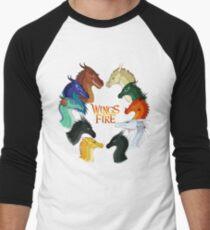 Flügel des Feuers - Alle zusammen Baseballshirt für Männer