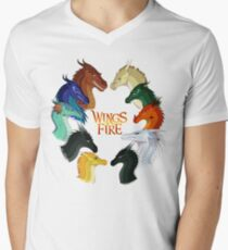 Wings of Fire - All Together Men's V-Neck T-Shirt