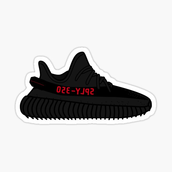Yeezy Boost 350 V2 | Black Red Sticker
