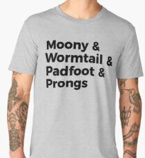 Moony, Wormtail, Padfoot, and Prongs Names Men's Premium T-Shirt