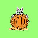 Halloween Cat Has Your Pumpkin by Shelly Still