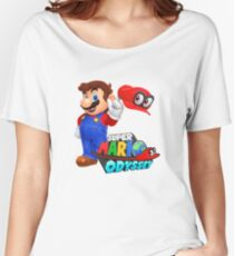 Super Mario Odyssey (Mario logo) Women's Relaxed Fit T-Shirt