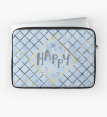Text Art SO HAPPY | blue Laptoptasche