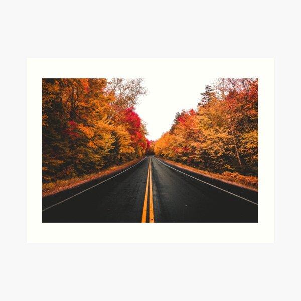 Fall Drives on the Kancamagus (Horizontal) Art Print