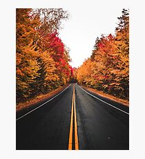 Fall Drives on the Kancamagus (Vertical) Photographic Print