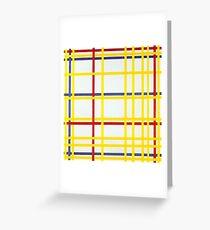 MONDRIAN, New York City I, Piet Mondrian Greeting Card